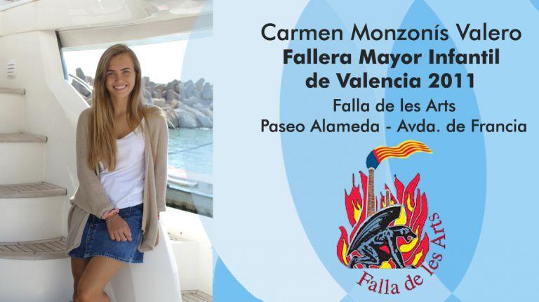 Carmen Monzonís Valero, Fallera Mayor Infantil de Valencia 2011, Falla de les Arts - Paseo Alameda - Avda. de Francia