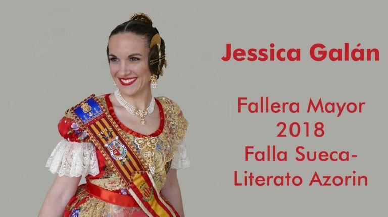 Jessica Galán Granero, Fallera Mayor de Sueca Literato Azorín   y Manager Venta Online en Costa Cruceros
