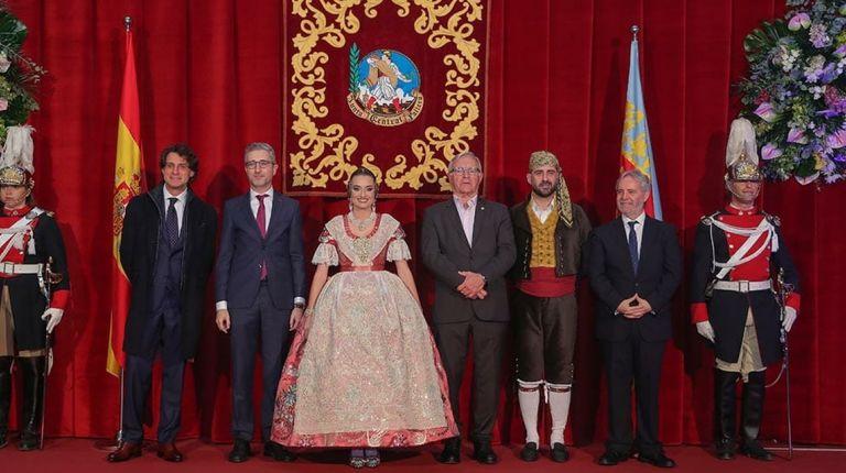 La Fallera Mayor de Valencia,  Consuelo Llobell Frasquet, ha sido exaltada en el Palacio de Congresos
