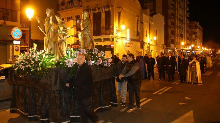 La nueva Hermandad de la Misericordia procesiona por primera vez en la Semana Santa Marinera