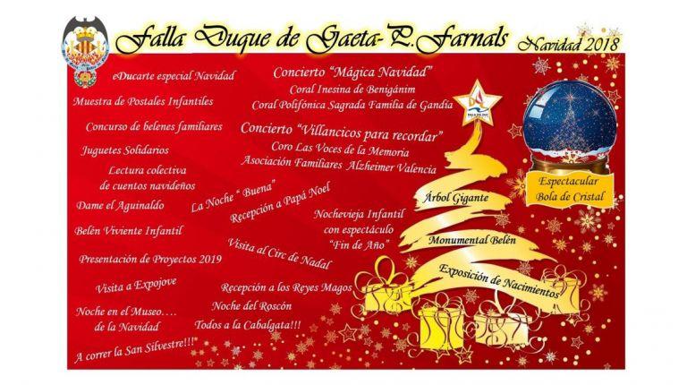 """La Falla Duque de Gaeta impulsa """"Nadal al Duc"""" como propuesta navideña"""