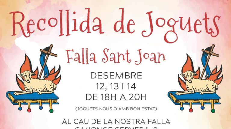 La falla Sant Joan de Alzira organiza una recogida de juguetes
