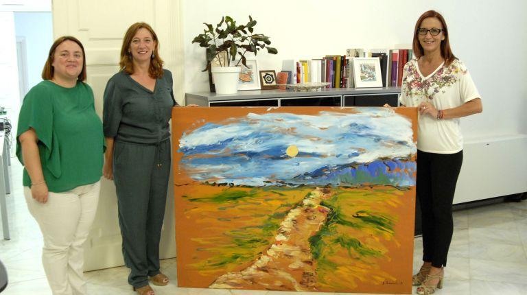 Godella entrega a la Diputación la pintura de Ferriol realizada con motivo del Año Pinazo