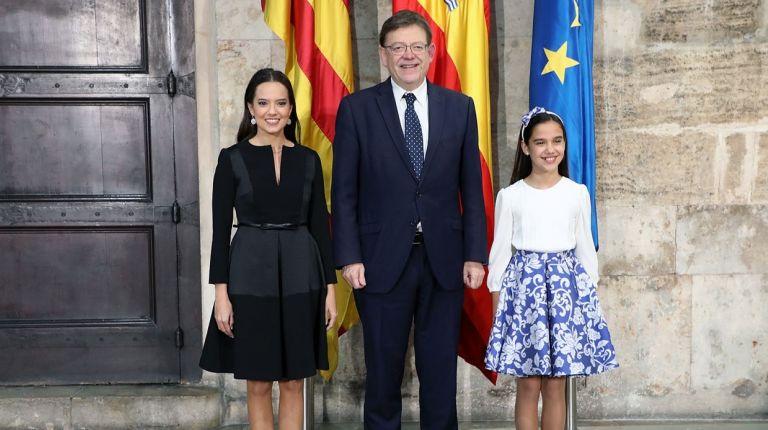 Ximo Puig recibe en audiencia a las falleras mayores de València