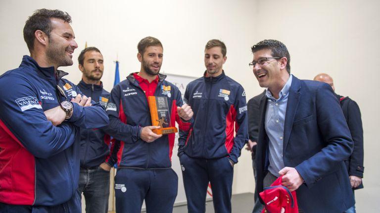 """Rodríguez a los campeones del mundo de pilota: """"La Diputació os seguirá apoyando porque sois un orgullo para València"""""""