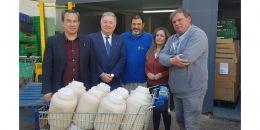 La Horchata de la undécima horchatada fallera se dona a la Casa de la Caridad de Valencia