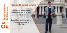 """Fernando Giner """"Los políticos debemos dar un paso atrás para que la Fallera Mayor tenga  el protagonismo que se merece y con la libertad que se merece""""."""