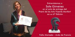 Entrevistamos a Sole Giménez en el acto de entrega del premio Vicente Monfort