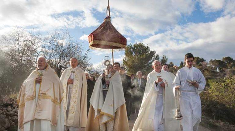 """Llutxent conmemora mañana la fiesta del """"Misterio de los Corporales"""" del siglo XIII con peregrinos llegados también de Zaragoza y Cuenca"""