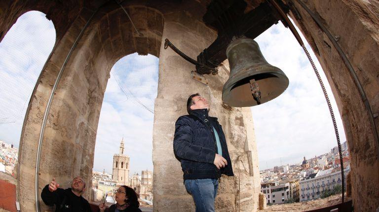 La iglesia de Santa Catalina de Valencia estrenará en 2019 la primera réplica de sus campanas originales del siglo XVIII