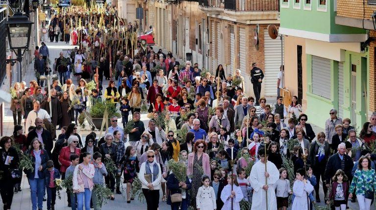 Alboraya inaugura la Semana Santa con la Solemne Procesión de Ramos